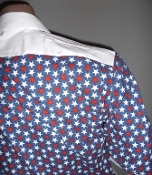 red white blue themed dress shirts