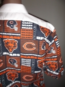 Tuxedo shirt with a Chicago Bears NFL theme by tacky tux