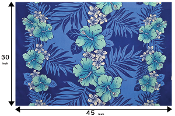 $79.95 Blue Rows Hawaiian