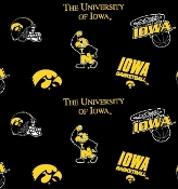 Iowa Hawkeyes Black